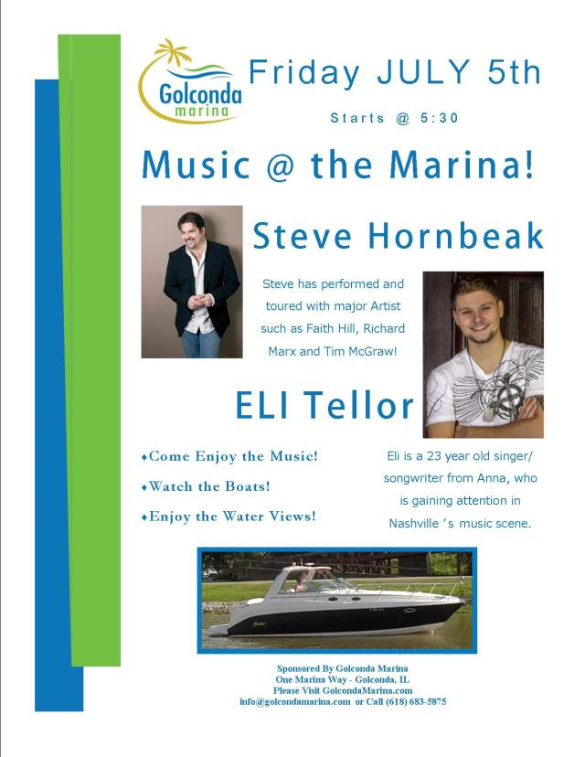 Music at the Marina Steve Hornbeak and Eli Tellor