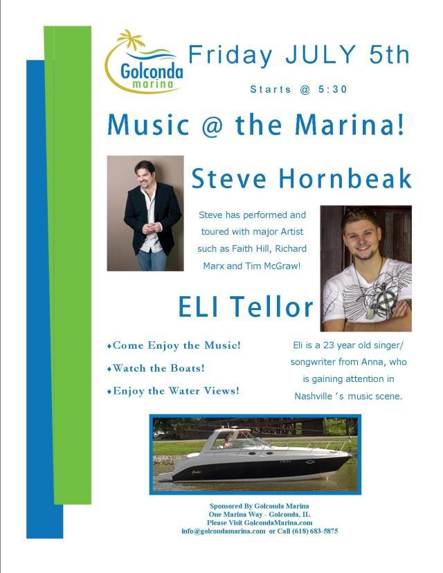 Music at the Marina Steve Hornbeak and Eli Tellor