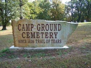 Camp Ground Cemetary sign