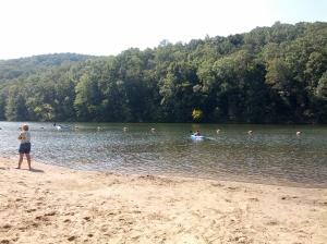 kayaking at Pounds Hollow Lake